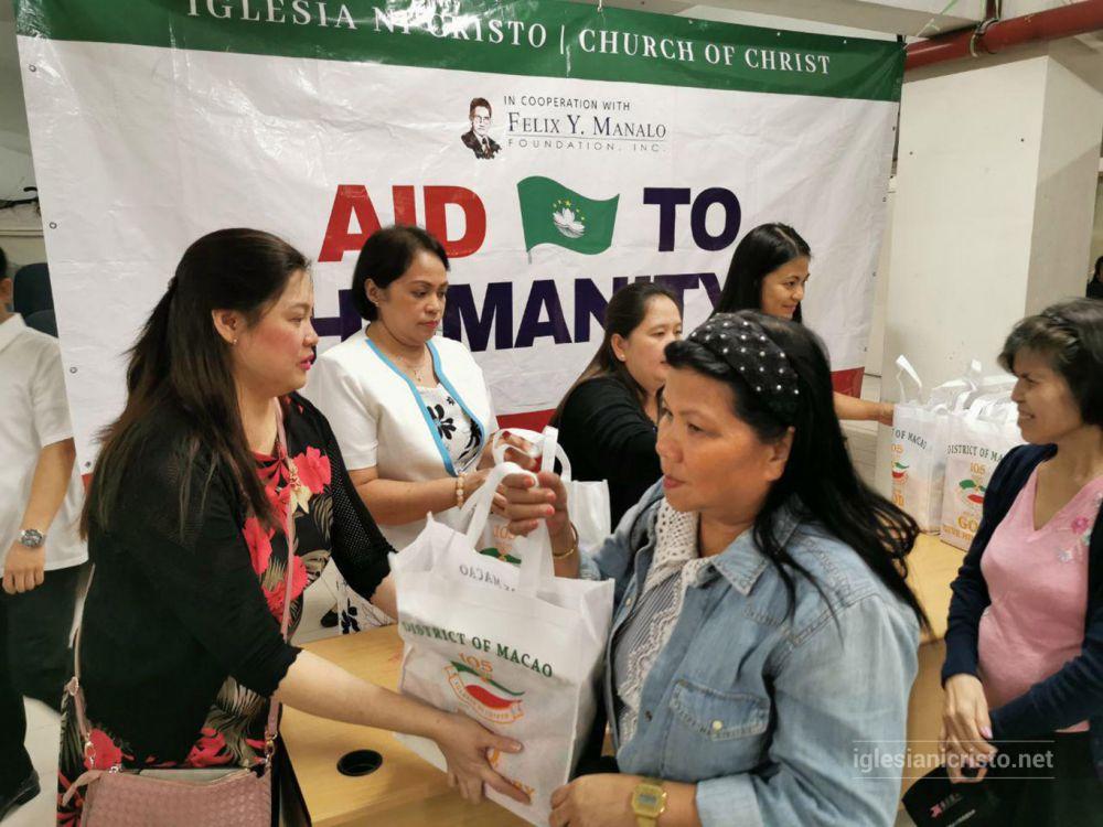 Macau extends help through Aid to Humanity