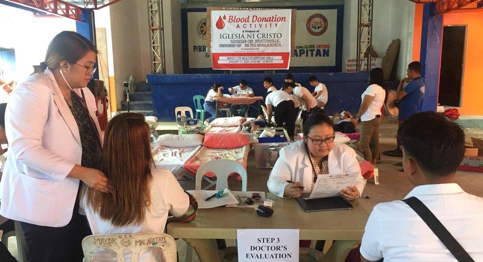 Metro Manila congregations conduct blood donation