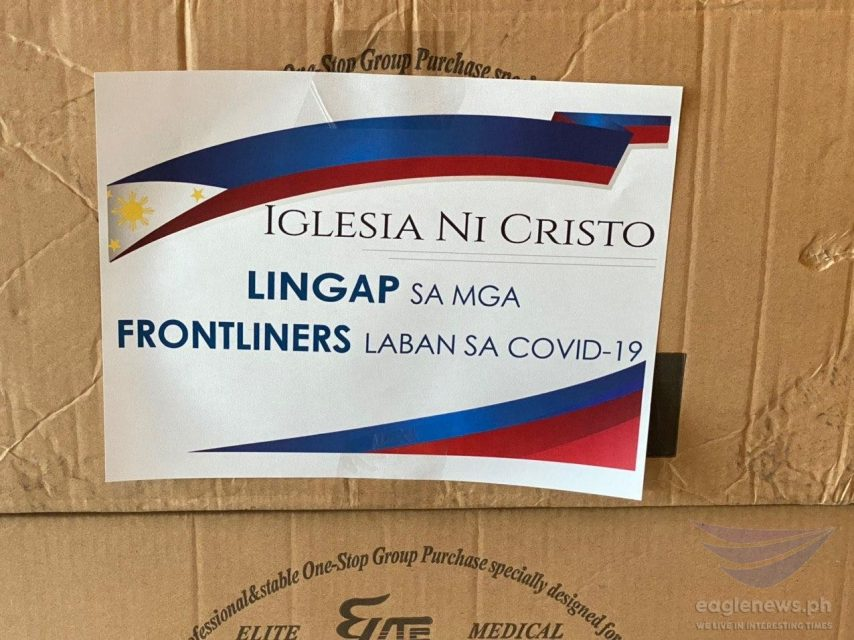 The Iglesia Ni Cristo donates PhP13.2 million worth of personal protective equipment (PPEs) and medical supplies to the Quezon City government to assist in the fight against COVID-19. This is the second donation made to the city government, following a PhP5 million in assistance extended previously.