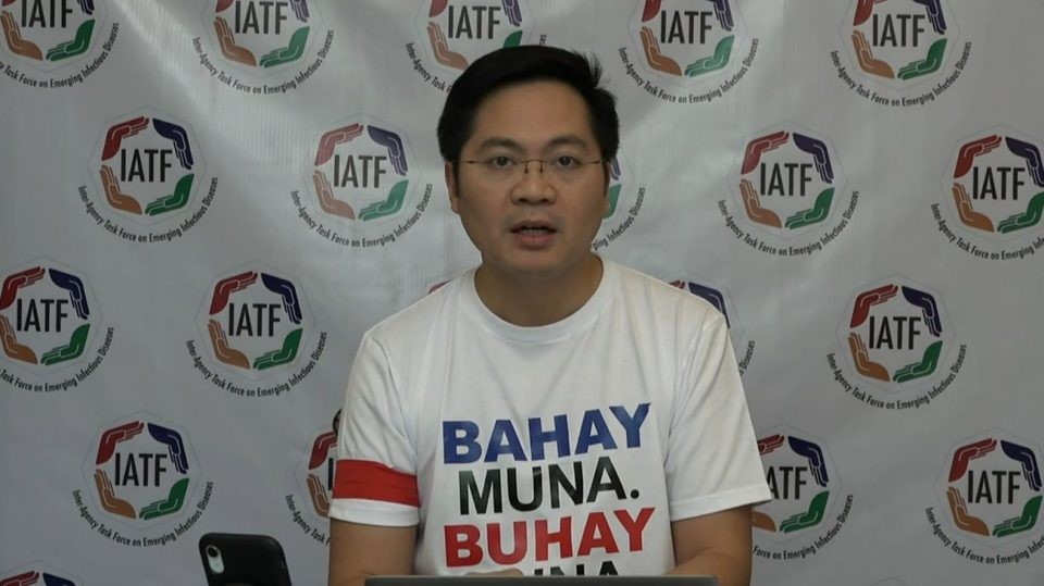 Cabinet Secretary Karlo Nograles holds a virtual press briefing on the COVID-19 situation in the country on Saturday, April 4, 2020. (Screenshot from PCOO video/Courtesy PCOO facebook)