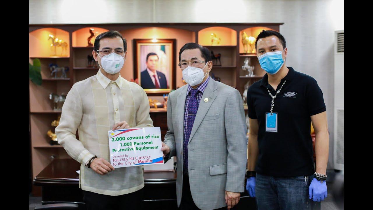Manila 'Yorme' Receives INC Aid for COVID Fight
