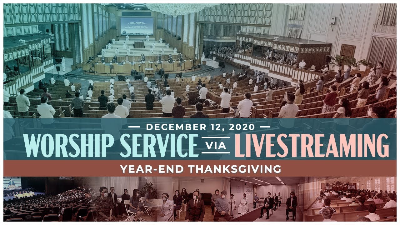 Members of the Church Of Christ give thanks to God