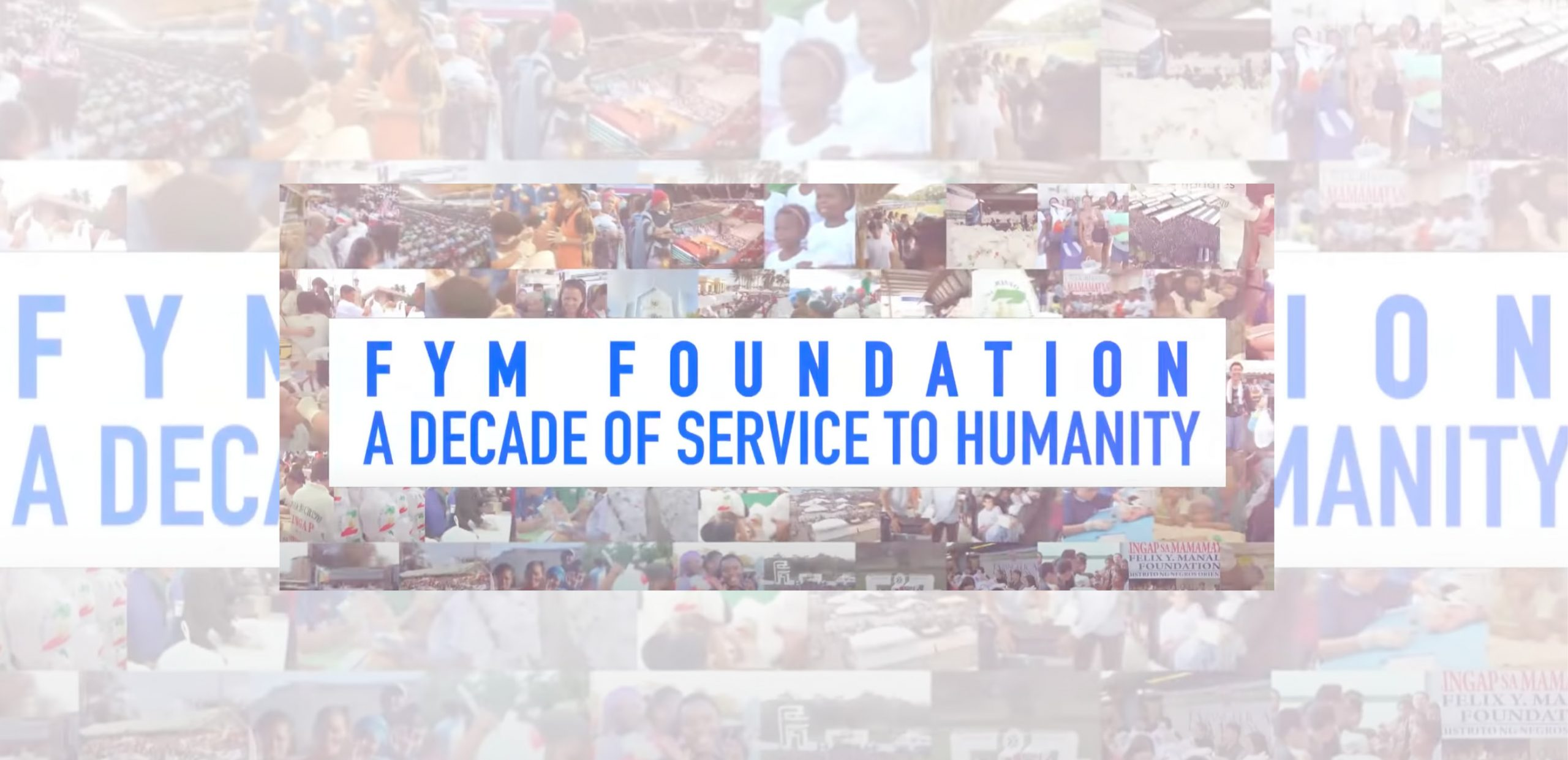 FYM Foundation: A Decade of Service to Humanity   Aid to Humanity