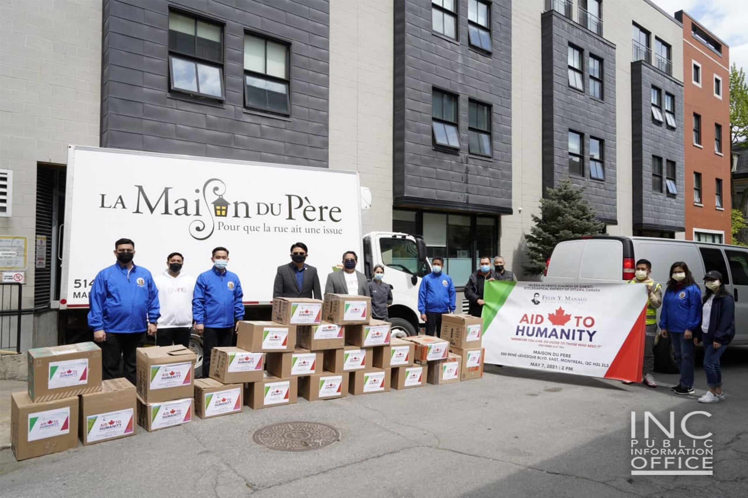 Felix Y. Manalo Foundation delivers 10K pounds in donations to charities in Canada, plus blood donations
