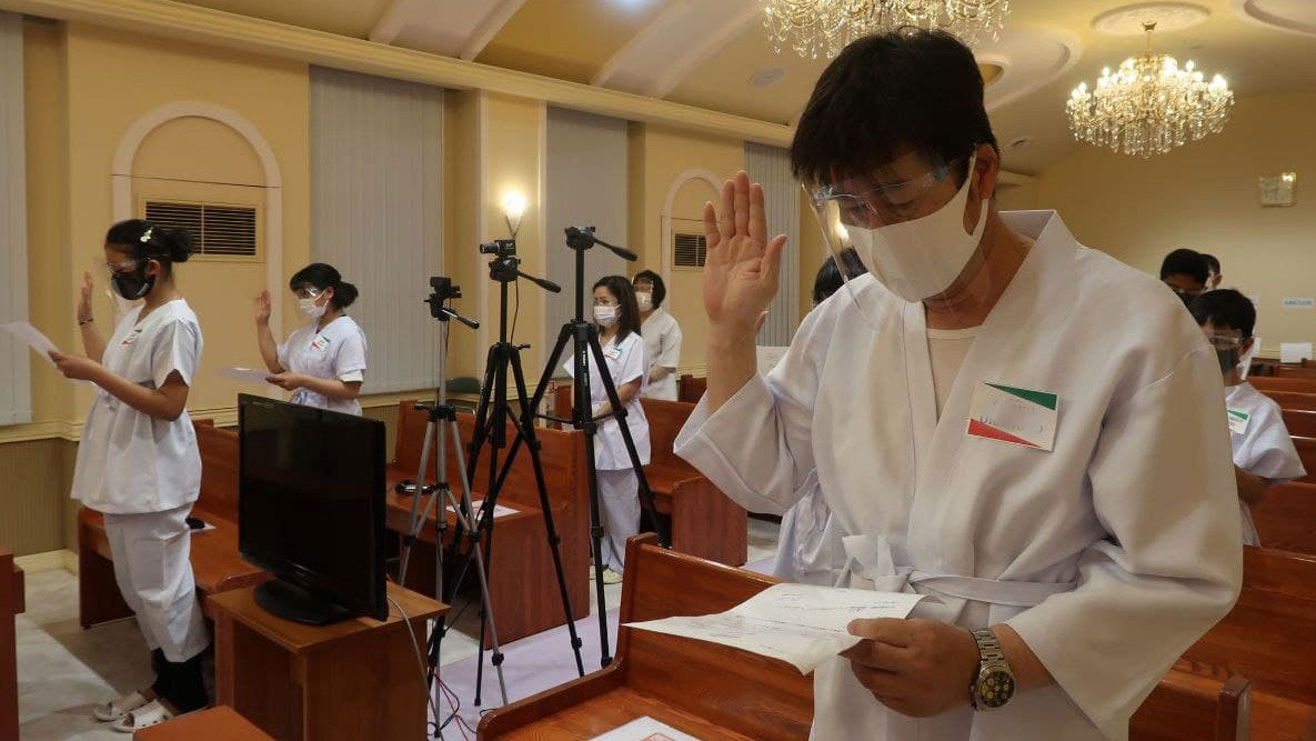 District of Nagoya, Japan holds two baptisms in one day