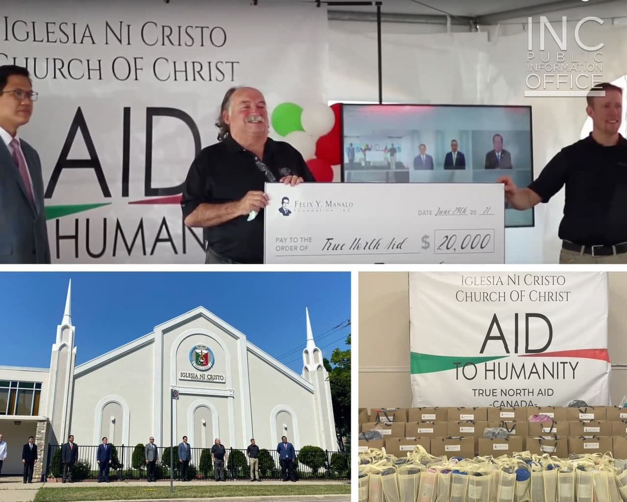 Canadian leaders and partners express appreciation for Iglesia Ni Cristo's humanitarian efforts as Church celebrates 107 years