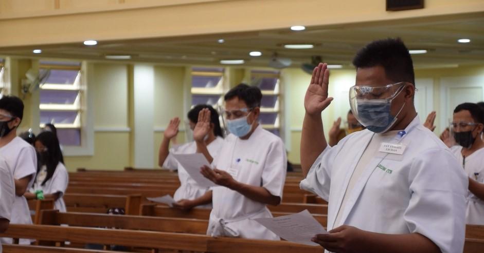 Newly baptized brethren in CAMANAVA receive spiritual blessings